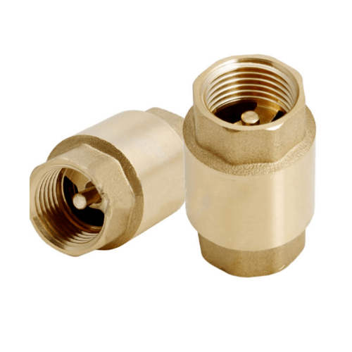 VAVO เช็ควาล์วสปริงทองเหลือง 2 นิ้ว  YF-4054-6  สีทอง