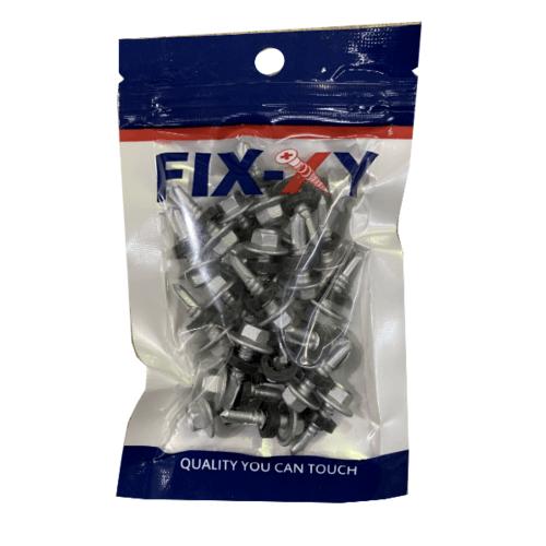 FIX-XY สกรูยิงเมทัลชีท ขนาด#12-14ยาว20 มม.(25pcs/bag) - สีโครเมี่ยม