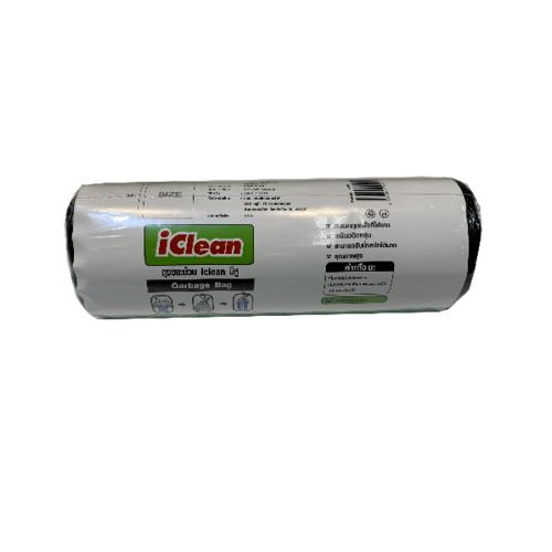 ICLEAN ถุงขยะม้วนมีหู ขนาด 26 26 สีดำ