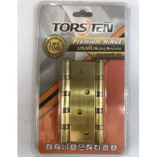 TORSTEN บานพับสเตนเลสเกรด304 4*3*2มม. 2 ชิ้น HSS304-4320G2 สีทอง