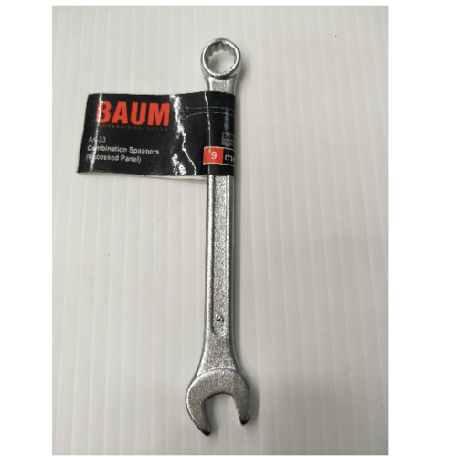BAUM ประแจแหวนข้างปากตาย 9mm.