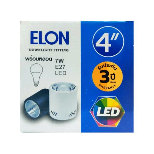EILON ดาวน์ไลท์แอลอีดีทาวเวอร์พร้อมหลอด 4  Y4001-9W E27  สีดำ