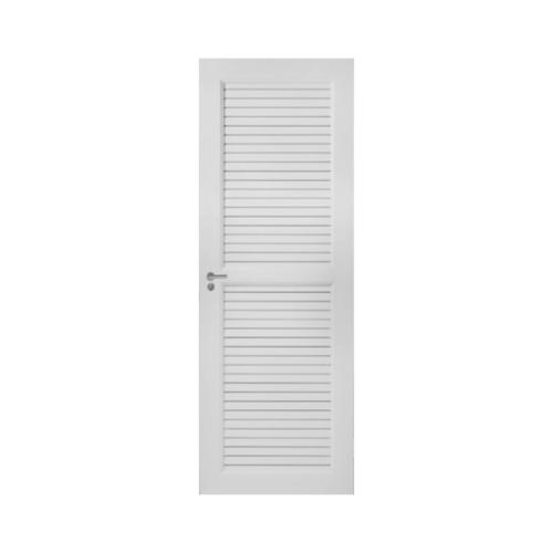 Wellingtan ประตูยูพีวีซี เกล็ดเต็มบานพร้อมวงกบ ขนาด70x200ซม.  AK5055W  สีขาว