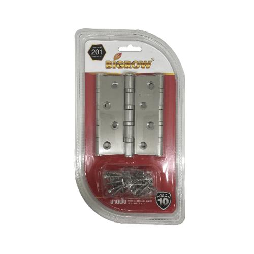 BIGROW บานพับ แกนใหญ่ หัวตัด แพ็ค 2 ชิ้น 4x4x2.5-4BB AC สีโครเมี่ยม