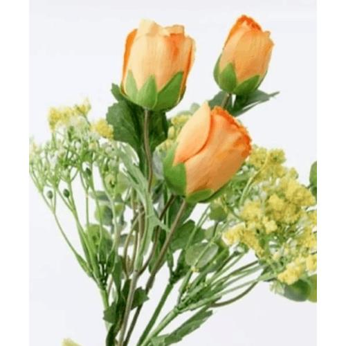 Local  ดอกไม้ประดิษฐ์ตกแต่ง  1x35x1cm. 85161-0556OR สีส้ม