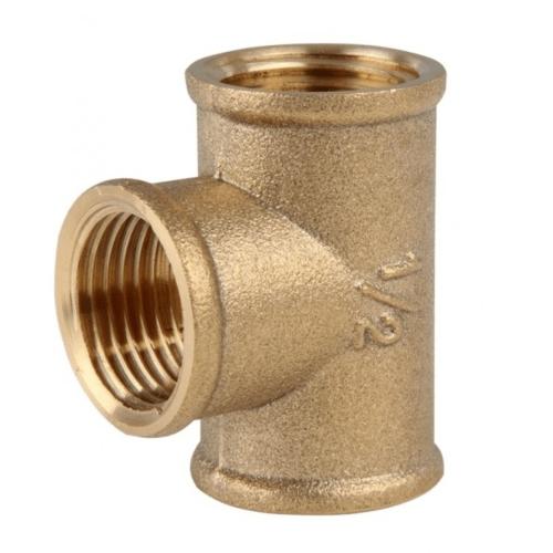 VAVO สามทางทองเหลือง มมม 1/2 นิ้ว YF-5009 สีทอง