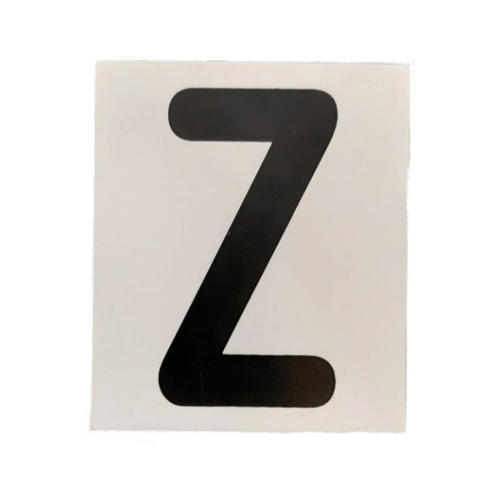 CITY ART ป้ายPP (ตัวอักษร Z) ขนาด 4.7x5.5 ซม. SGB1105-26 สีขาว