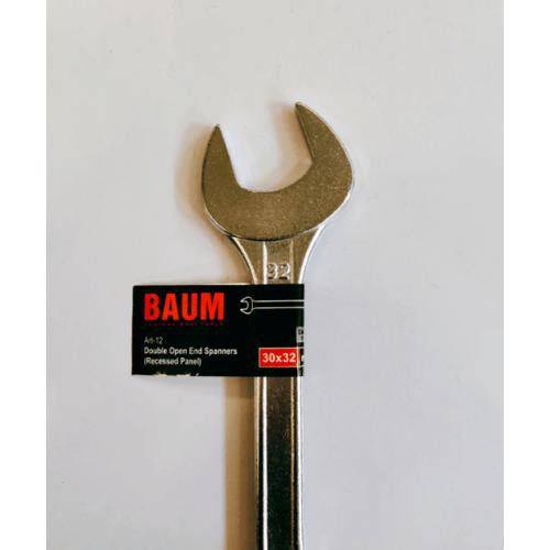 BAUM ประแจแหวนปากตาย 30*32 สีโครเมี่ยม