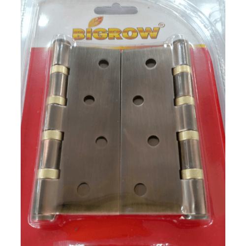 BIGROW บานพับ 4x3x2 4BB แกนเล็ก หัวตัด แพ็ค 2