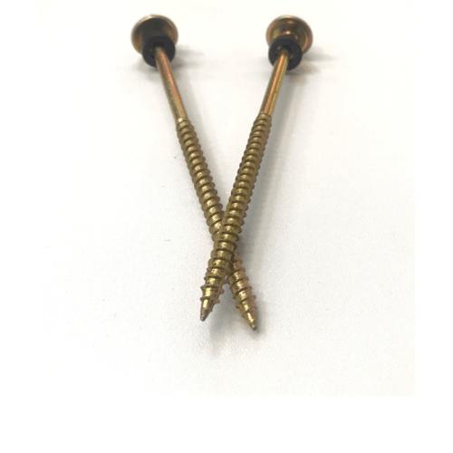 FIX-XY สกรูยึดกระเบื้องลอนคู่ ปลายแหลม ขนาด#10 ยาว 95 มม.(3.8)(25pcs/bag) - สีทอง