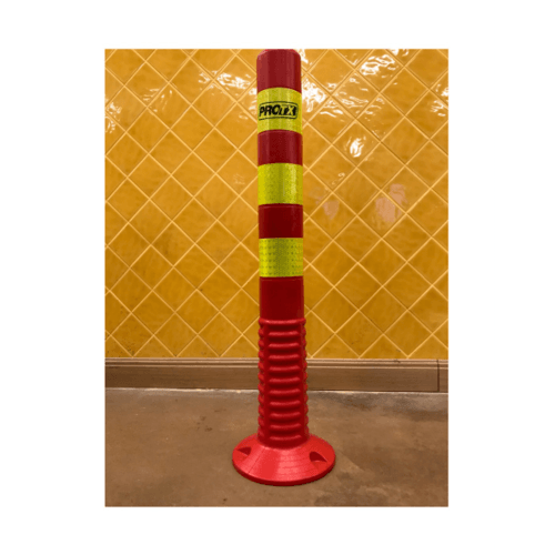 Protx เสากั้นจราจร PU แถบสะท้อนแสงสีเหลือง  75cm.   PQS-RS37