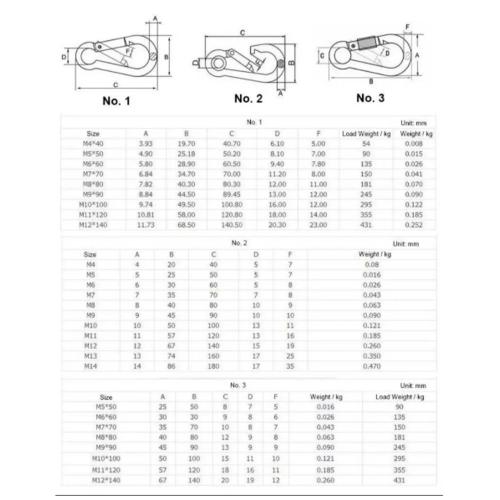 FIX-XY ห่วงเกี่ยวนิรภัย 3.4x1.8cm. (6ชิ้น/แพ็ค) ER-001-S