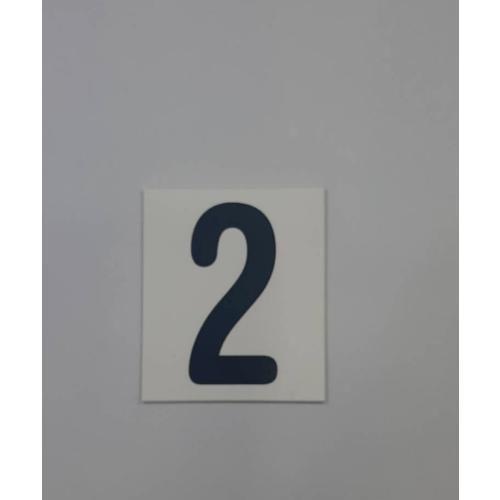 CITY ART ป้ายPP(ตัวเลข 2) SGB1105-28 สีขาว