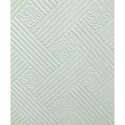 Lisse ฝ้ายิปซั่มทีบาร์60x60 แบมบู-ไวท์(10แผ่น/กล่อง) สีขาว