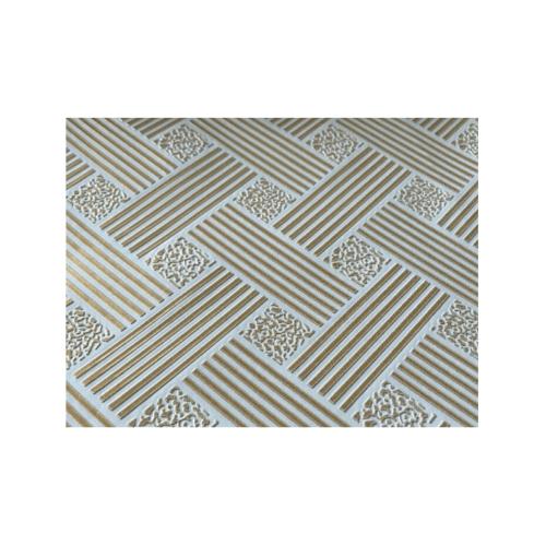 Lisse ฝ้ายิปซั่ม ทีบาร์ 60x60 ไผ่ทอง(10แผ่น/กล่อง) สีทอง