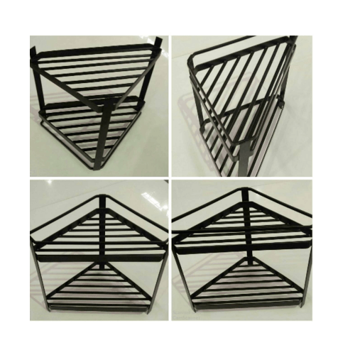 nibiru ที่วางของสามเหลี่ยม 2 ชั้น  26x26x23 ซม.  QYTY026-BN สีน้ำตาล