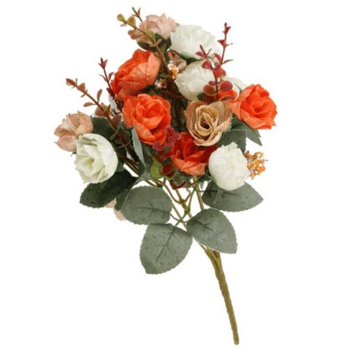 Tree O ดอกไม้ประดิษฐ์ตกแต่ง LL-015 สีส้ม