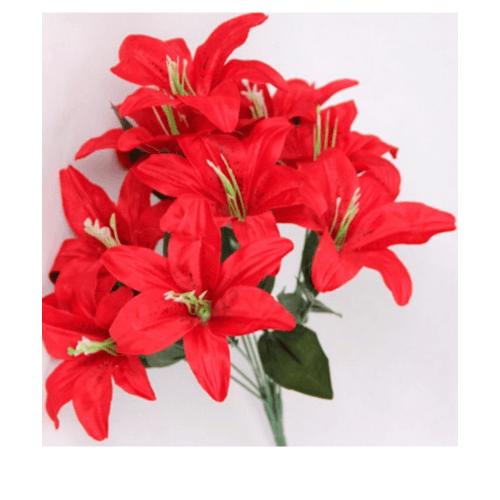 Tree O  ดอกไม้ประดิษฐ์ตกแต่ง HB022  สีแดง