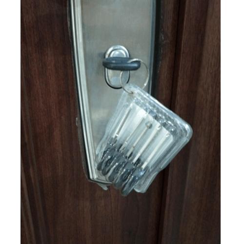 Wellingtan ประตูเหล็กนิรภัย ขนาด 96x200 ซม. เปิดขวา เปิดออก พร้อมวงกบ บานพับ และระบบล็อค  Hkai-C1R-out สีน้ำตาลเข้ม