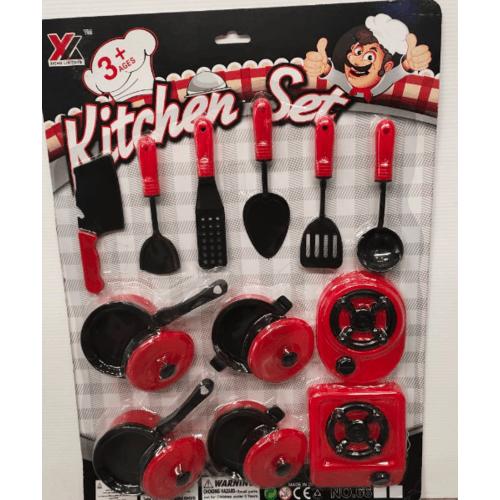Sanook&Toys ชุดของเล่นครัวหรรษา 259297 สีแดง