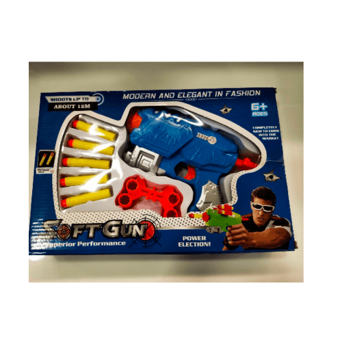 Sanook&Toys  ปืนเนิร์ฟ  EVA Soft bullet gun 271692 สีน้ำเงิน