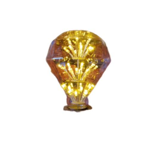 EILON หลอดไฟเอดิสัน วินเทจ ขนาด 9.5x9.5x13 cm. GY-52  สีเหลือง