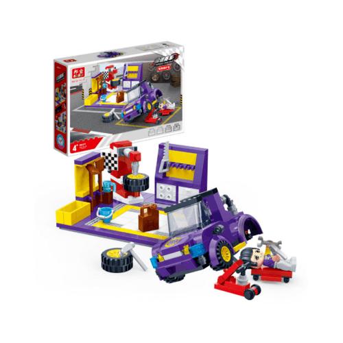 Sanook&Toys ตัวต่อเลโก้ร้านเปลี่ยนยาง 8637 สีม่วง