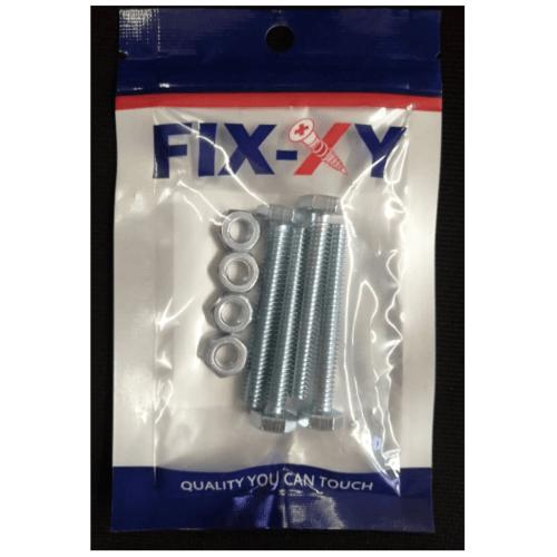 FIX-XY สกรูเกลียวมิล 1/4x2  (4ชิ้น/แพ็ค)  EF-004 สีโครเมี่ยม