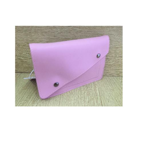 USUPSO กระเป๋าใส่มือถือแบบเรียบ สีชมพู
