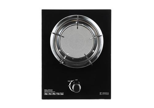 Koch Kitchen เตาแก๊สแบบฝ้งหน้ากระจก 1หัวอินฟาเรด Fuerte KH-8 สีดำ