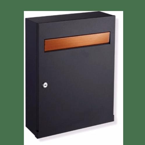 HATO ตู้จดหมาย ขนาด 32.60x12.60x42.50 ซม. WP011 สีดำ