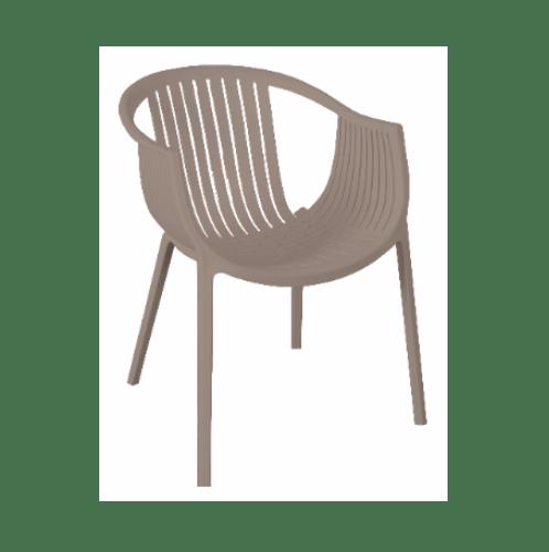 Delicato เก้าอี้โมเดิร์นพลาสติก   KML-009-LBR สีน้ำตาล
