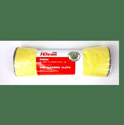 ICLEAN ผ้าเช็ดรถ (6ผืน/แพ็ค) TERRY A-6 เหลือง