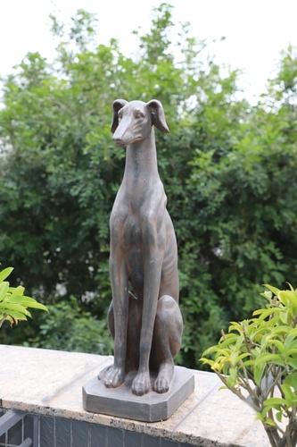 Tree O รูปปั้นตกแต่งสวนสุนัขเกรย์ฮาวด์ ขนาด 25x32x78 ซม. 4QY004