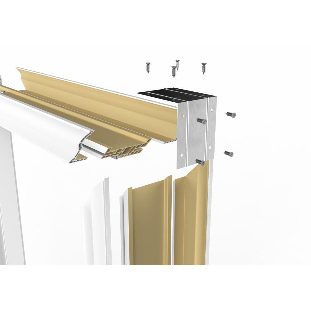 Wellingtan วงกบประตู WPC (พร้อมซับวงกบ)  ขนาด  80x200ซม. WHITE WPCDF-W2-04