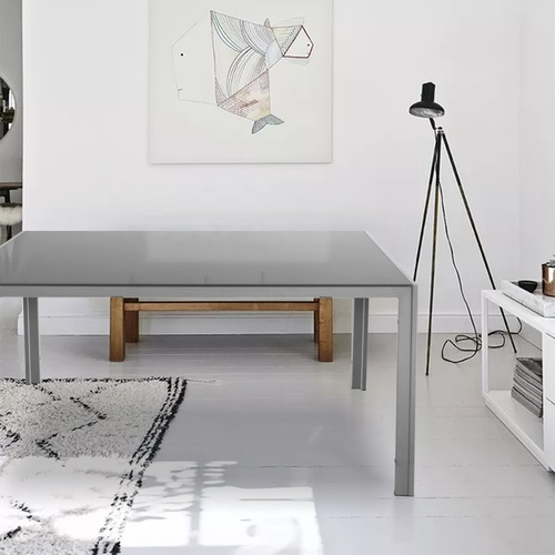 Delicato โต๊ะอาหารท็อปกระจก ขนาด 90x150x75ซม. Hunny-GY