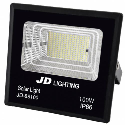 EILON  สปอร์ตไลท์โซล่าร์เซลล์ 100W พร้อมรีโมท แสงวอร์มไวท์   JD-88100-3000K