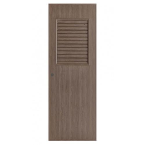 BATHIC ประตูลายไม้ ขนาด 70x180ซม. สีโอ๊ค (เจาะ)  BL3