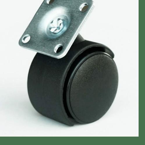 KAMPER ล้อแป้น Black Nylon  TWP-50 สีดำ