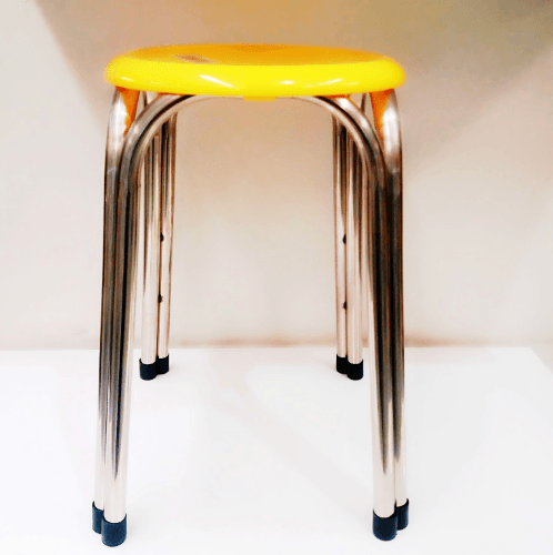 Sane เก้าอี้สเตนเลส  4 ขา CHY 47 สีเหลือง