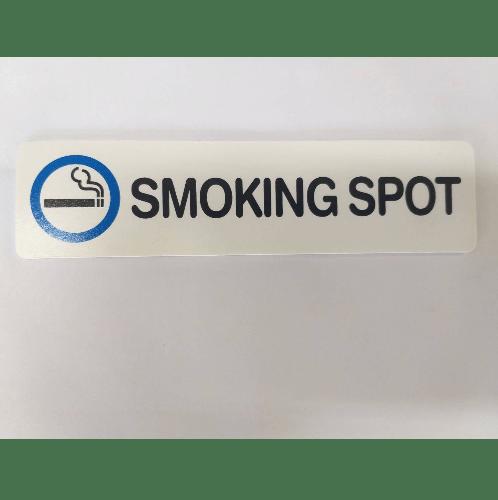 CITY ART ป้าย PP (SMOKING SPOT ) ขนาด16x4 ซม.  SGB1103-05 สีขาว