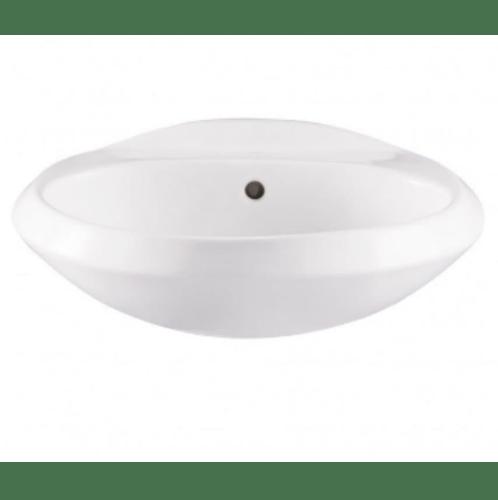 VERNO อ่างล้างหน้าแบบแขวน +ชุดอุปกรณ์อ่างล้างหน้าทองเหลืองด้ามปัด ครบชุด สะดือป๊อปอัพ  VN-12115WT(B65)+VN-23501 สีขาว