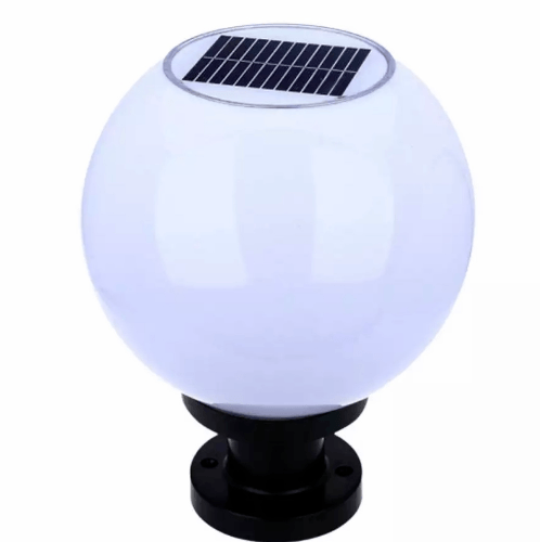 EILON โคมไฟหัวเสาโซล่าร์ ขนาด 30x30x40cm. ZTD-02 สีขาว