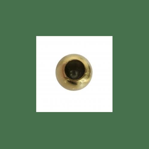 ระฆังทอง ลายประกอบเหล็กดัด - บอลกลมร้อยท่อ C-082 บาง 1.1/2  รู  3/4 สีทอง