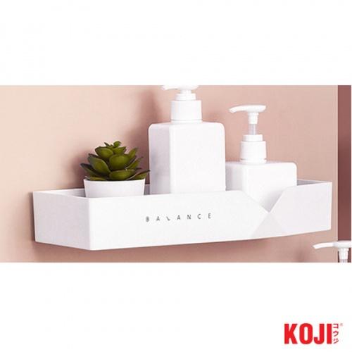 KOJI ชั้นวางอุปกรณห้องน้ำติดผนัง ขนาด 13.5x30x5 cm. 2JYS056-WH สีขาว