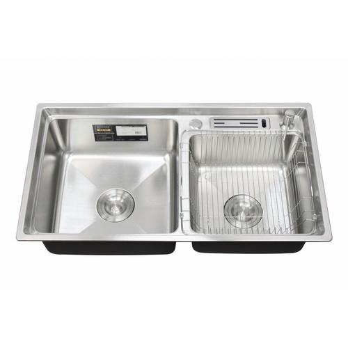 Koch Kitchen  อ่างล้างจานสเตนเลส304  2หลุม 78x43x22ซม.  HALLOW-2