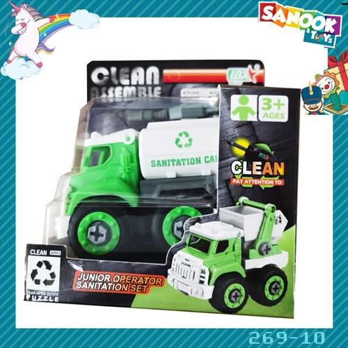 Sanook&Toys ของเล่นรถขนน้ำเทศบาล DIY #269-10 (9.7x16x14ซม.) สีเขียว