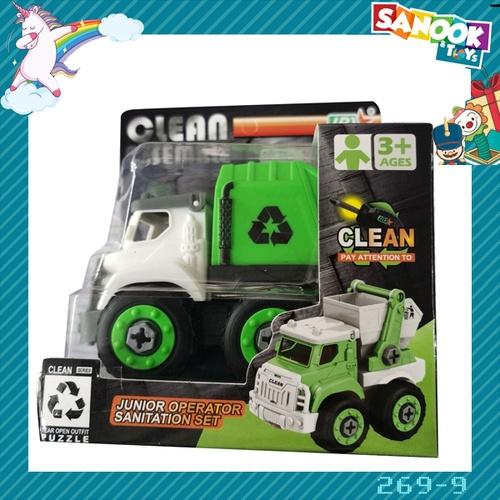 Sanook&Toys ของเล่นรถขนขยะเทศบาล DIY #269-9 (9.7x16x14ซม.) สีเขียว
