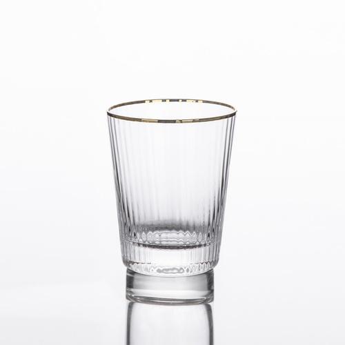 AILO แก้วน้ำดื่มขอบทอง 250ml.  JORINA-G