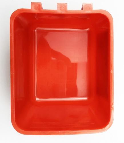 Tree O ถ้วยอาหารเกาะสุ่มไก่  ขนาด 700 มล. TL3407 สีแดง